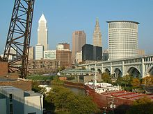 How does Cleveland's economy rank next to 40 largest U.S. Cities?
